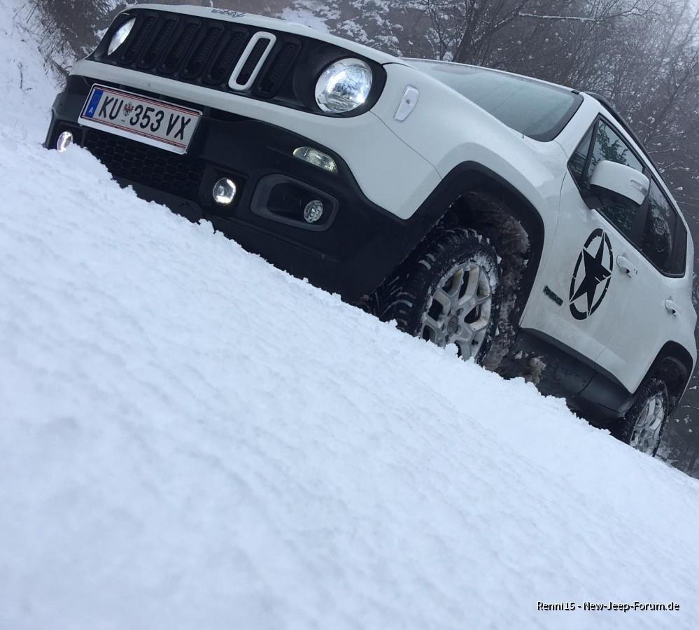 Rumtoben im Schnee
