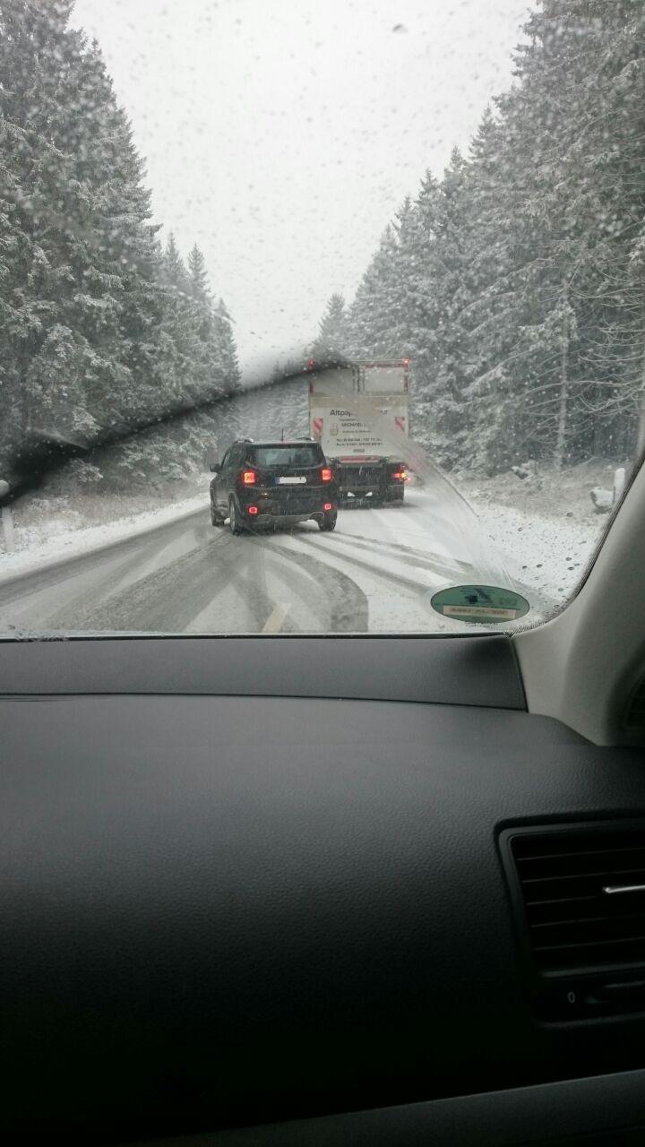 Der erste Schnee im Harz.