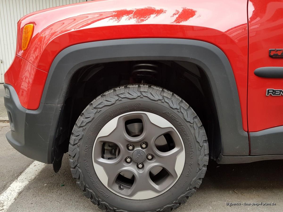 Höherlegung 2WD Renegade