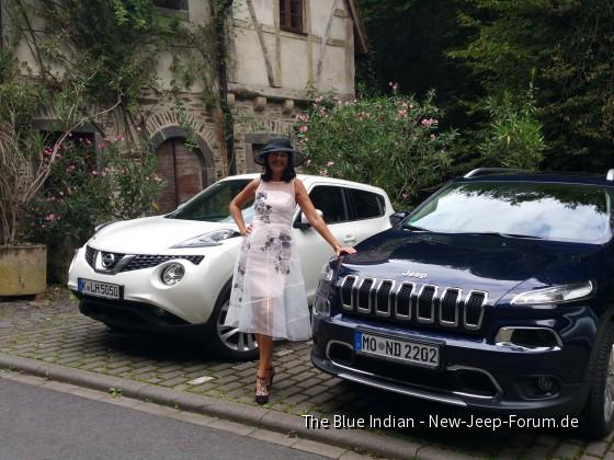 Der erste blaue indianer als Brautwagen