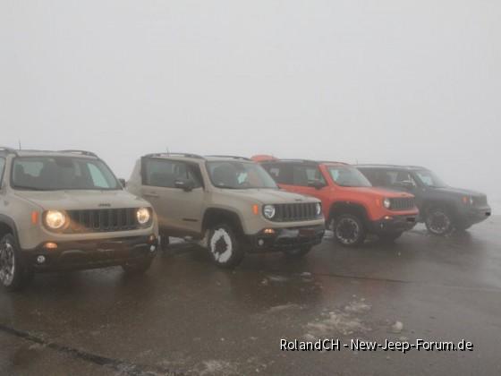 Erfahrungen mi 4 Trailhawks im Schnee: Renegade Stammtisch