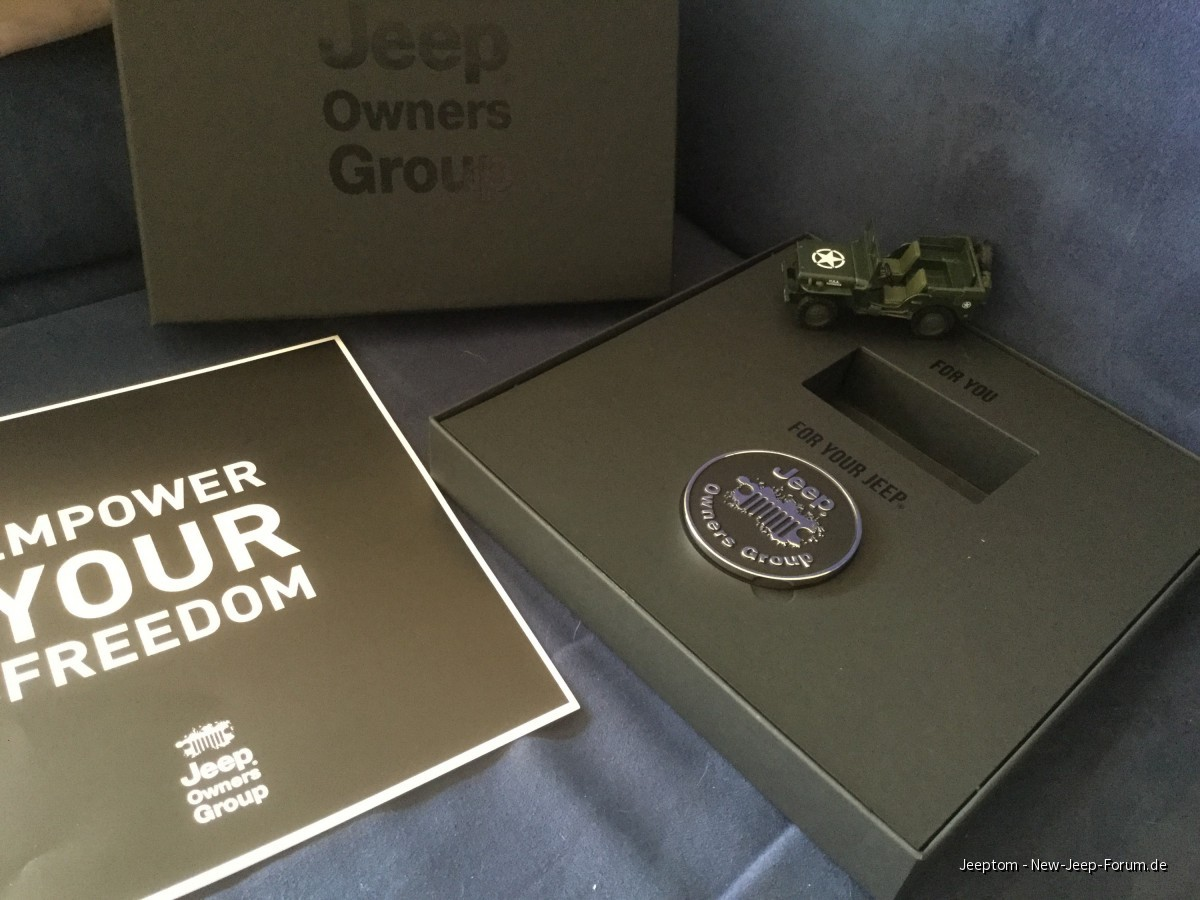Jeep Owners Group Willkommenspaket