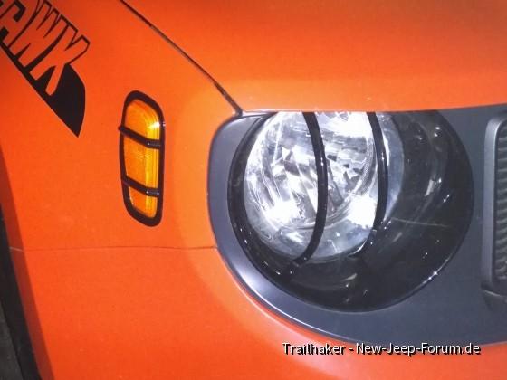 Lampen-Schutzgitter Renegade, Scheinwerfer, Seitenreflektor, Plastik