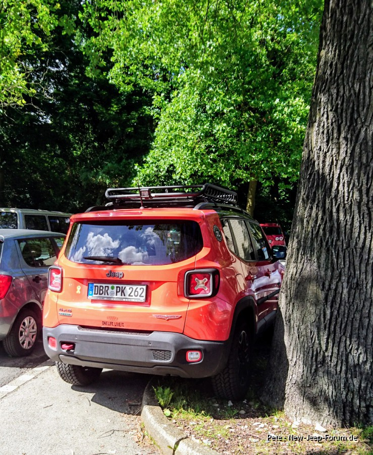 Sonder-Parkplatz für Jeeps