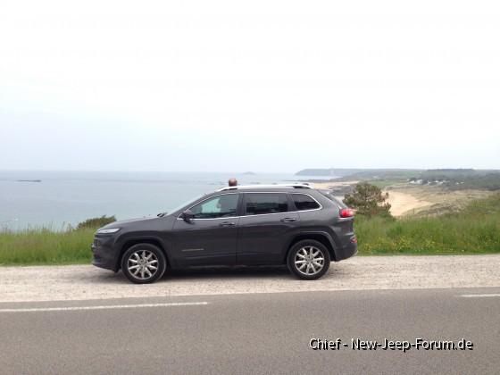 Chiefs Bretagnereise mit dem Jeep Cherokee KL über Pfingsten 2016
